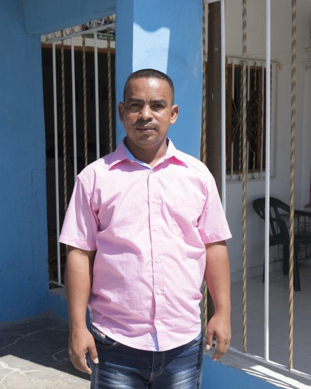 Freddy Ortiz de la Hoz (55 años), beneficiario del programa.