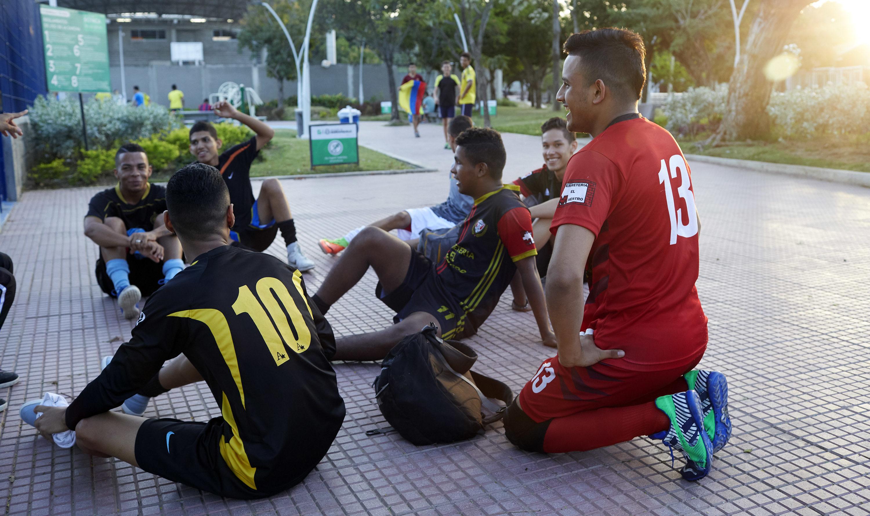 La gente del parque en Barranquilla