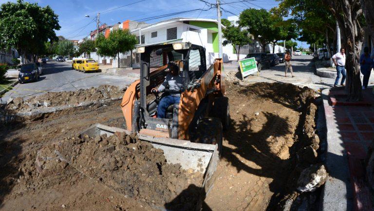Reparcheo de vías Barranquilla