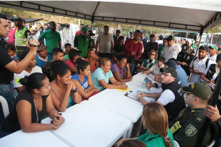 Con acciones de ayuda institucional, Distrito recuperó zona pública ocupada por migrantes venezolanos